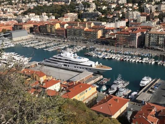De haven van Nice.