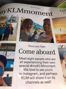 Onze foto in het KLM magazine!
