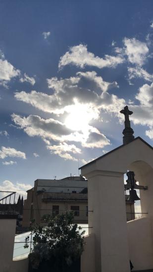 Op het dak van ons hotel.