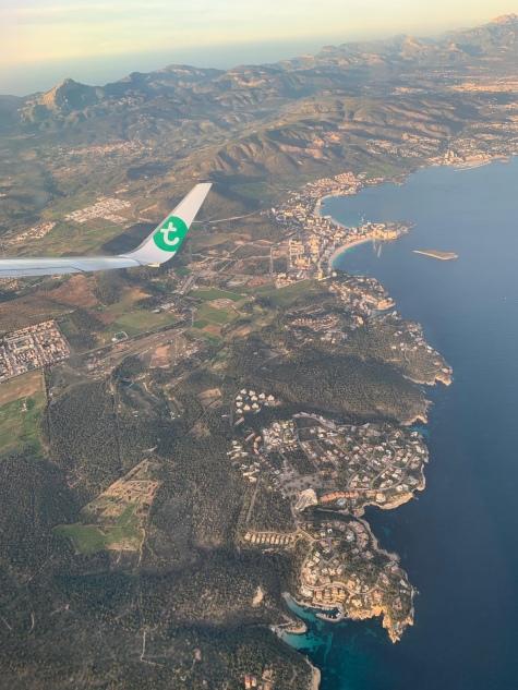 Met Transavia boven Palma.